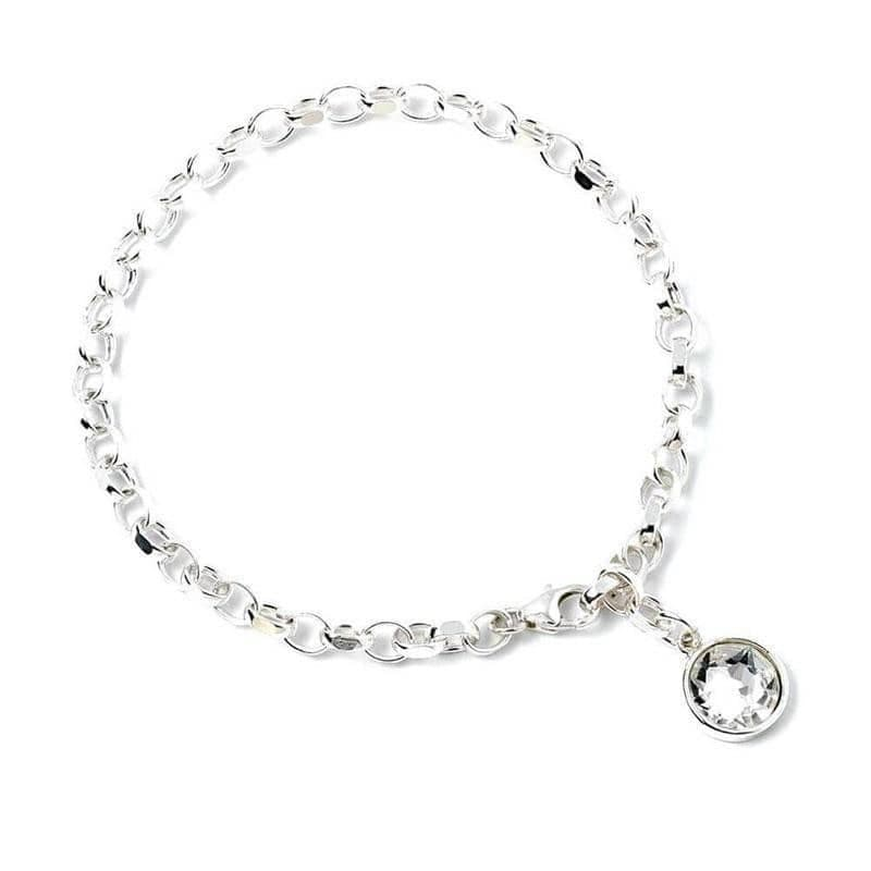 Harry Potter Sterling Silver Charm Bracelet with Swarovski Crystal