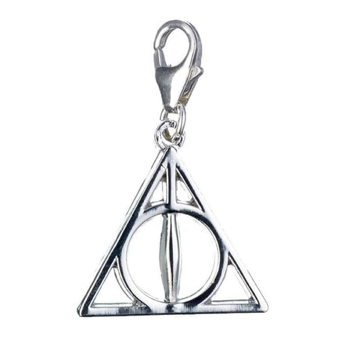 Harry Potter Sterling Silver Deathly Hallows Clip-On Charm