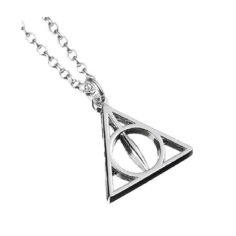Harry Potter Sterling Silver Deathly Hallows Necklace