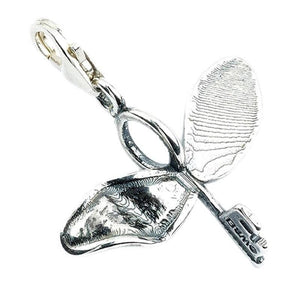Harry Potter Sterling Silver Flying Key Clip-On Charm