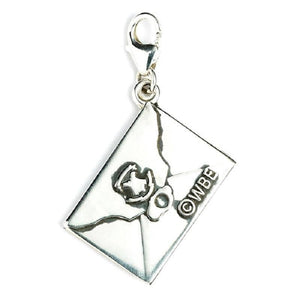 Harry Potter Sterling Silver Hogwarts Letter Clip on Charm