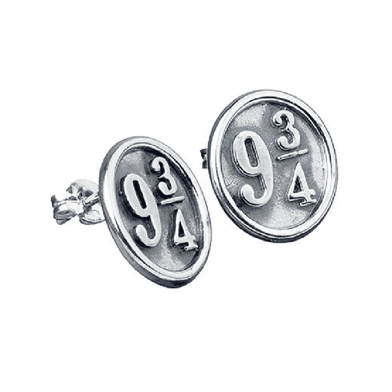 Harry Potter Sterling Silver Platform 9 3/4 Stud Earrings