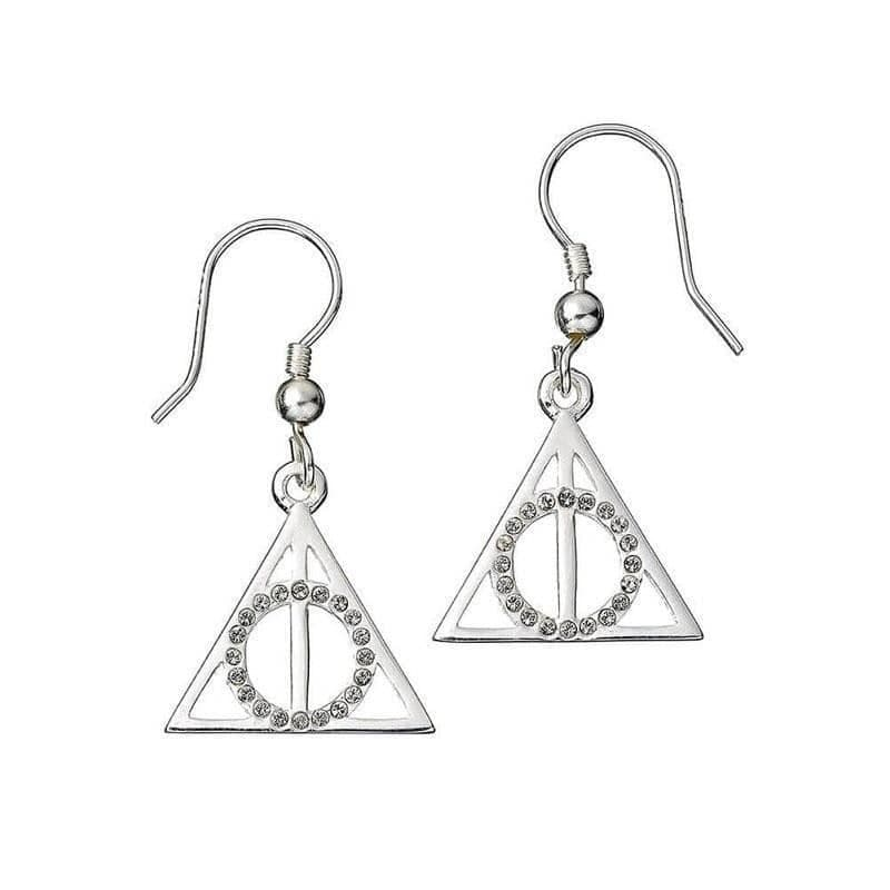 Harry Potter Swarovski Crystals Deathly Hallows Earrings