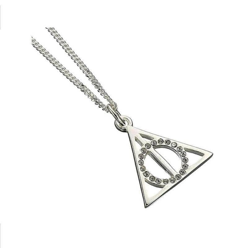 Harry Potter Swarovski Crystals Deathly Hallows Necklace