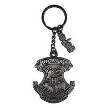 Load image into Gallery viewer, Harry Potter Hogwarts Metal Keyring with Harry Potter Logo Charm