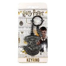 Load image into Gallery viewer, Hogwarts Metal Keyring on Harry Potter branded backing card