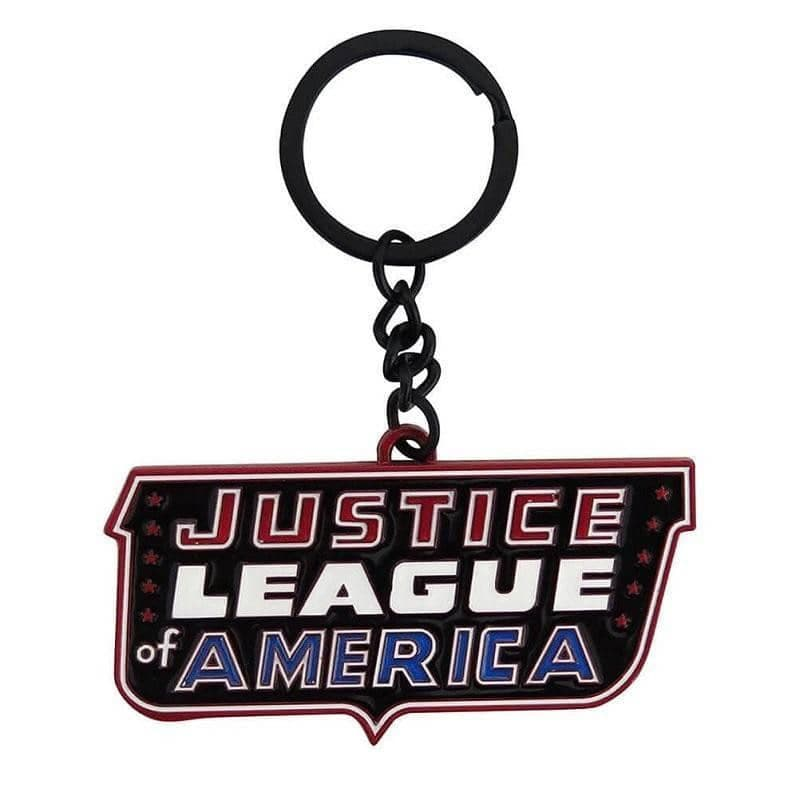Justice League of America Logo Metal Keyring