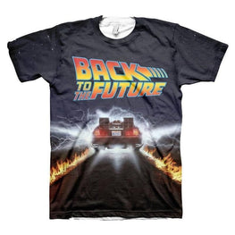 Men's Back to the Future Delorean All Over Print T-Shirt