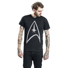 Load image into Gallery viewer, Men's Black Star Trek Starfleet Logo T-Shirt