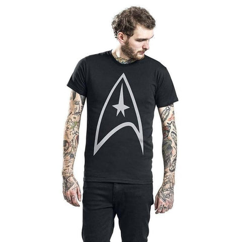 Men's Black Star Trek Starfleet Logo T-Shirt