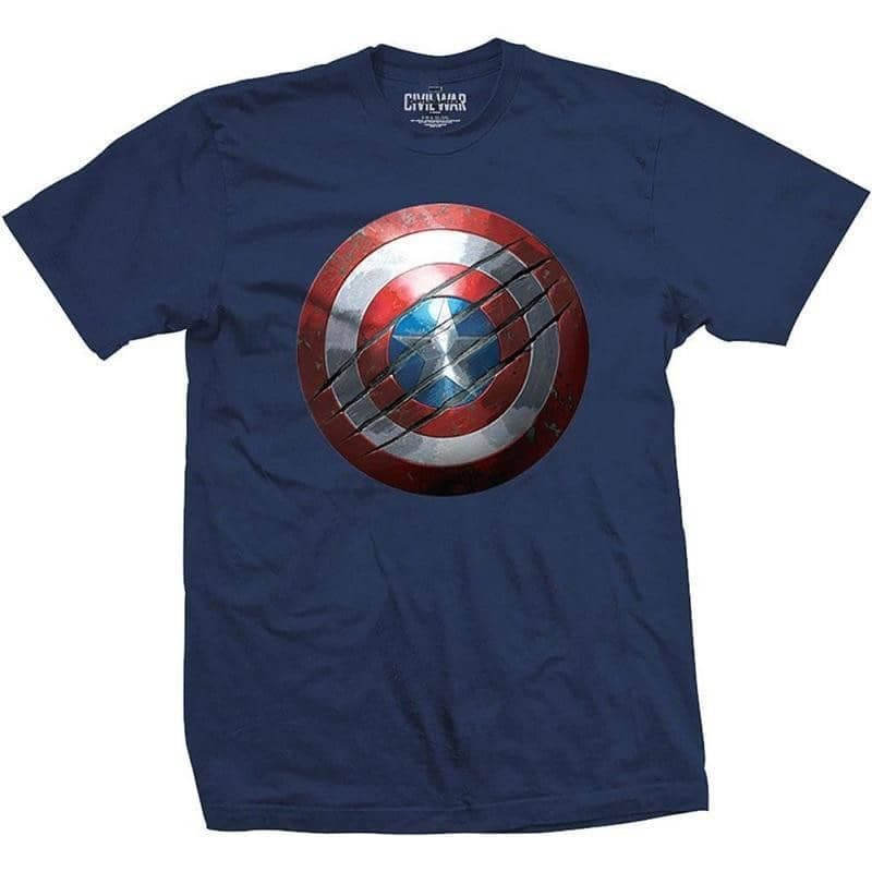 Men's Captain America: Civil War Clawed Shield T-Shirt