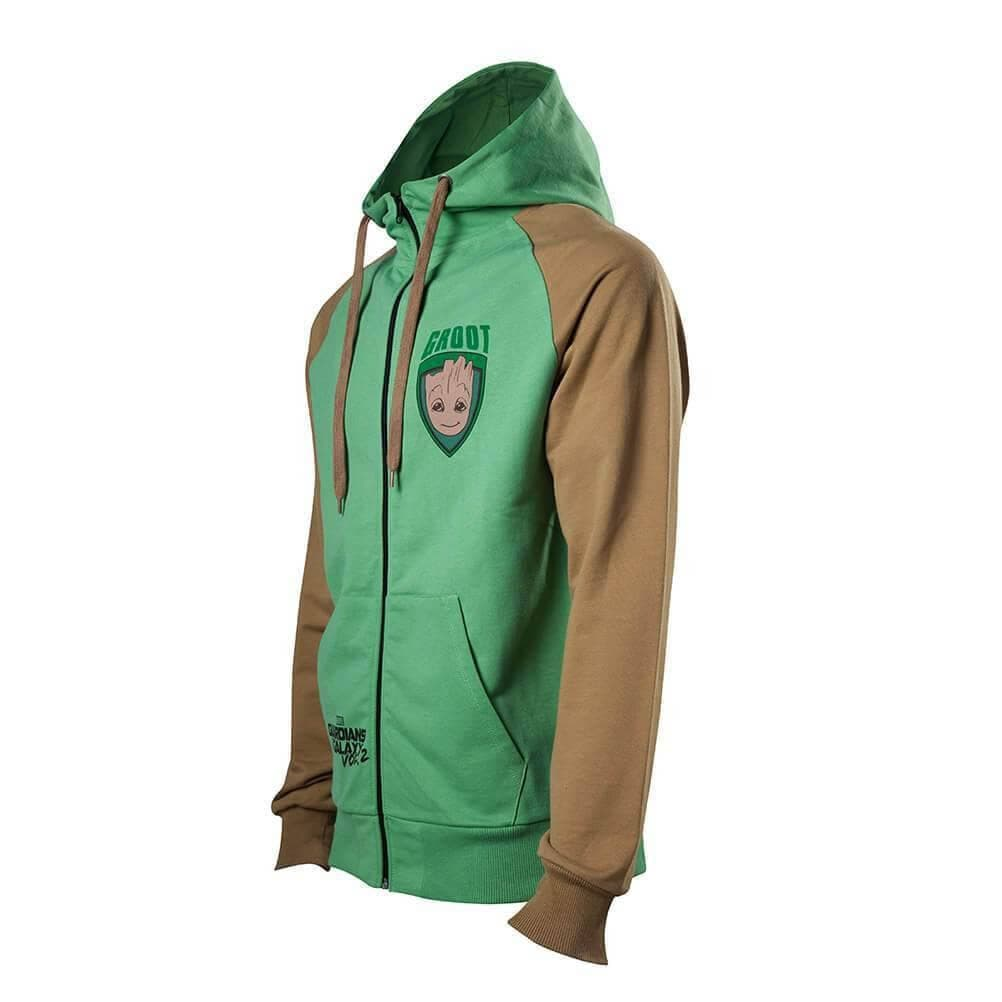 Men's Guardians of the Galaxy Groot Zip-Up Hoodie
