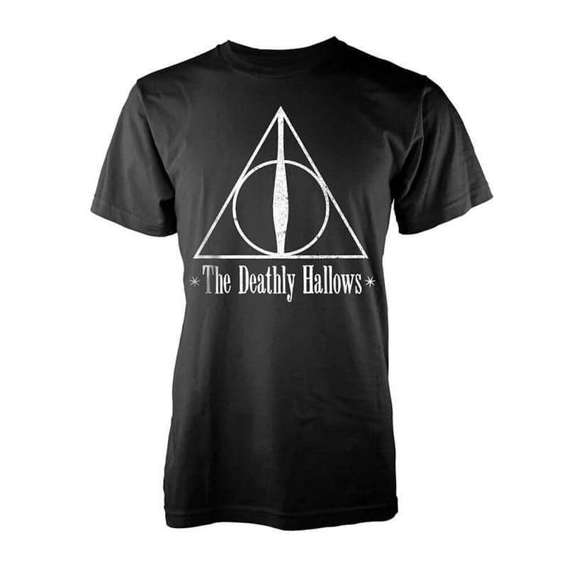 Men's Harry Potter The Deathly Hallows Black T-Shirt