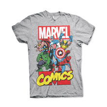 Load image into Gallery viewer, Men's Marvel Comics Superheroes Grey T-Shirt