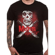 Load image into Gallery viewer, Men's Misfits Friday The 13th Black T-Shirt.