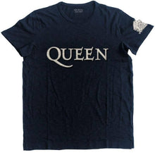 Load image into Gallery viewer, Men's Queen Logo and Crest Applique Motif T-Shirt