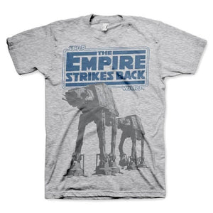 Men's Star Wars Empire Strikes Back AT-AT Grey T-Shirt