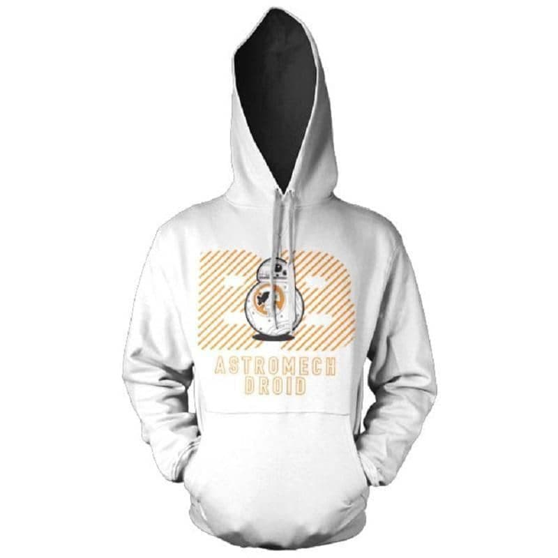 Men's Star Wars Episode VII BB-8 Astromech Droid White Hoodie