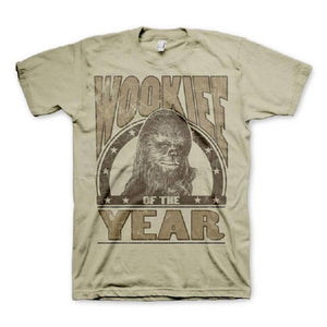 Men's Star Wars Wookiee of The Year Khaki T-Shirt