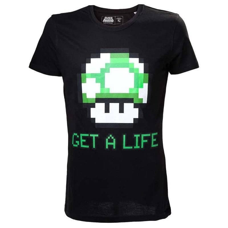 Men's Super Mario Bros. Get a Life T-Shirt