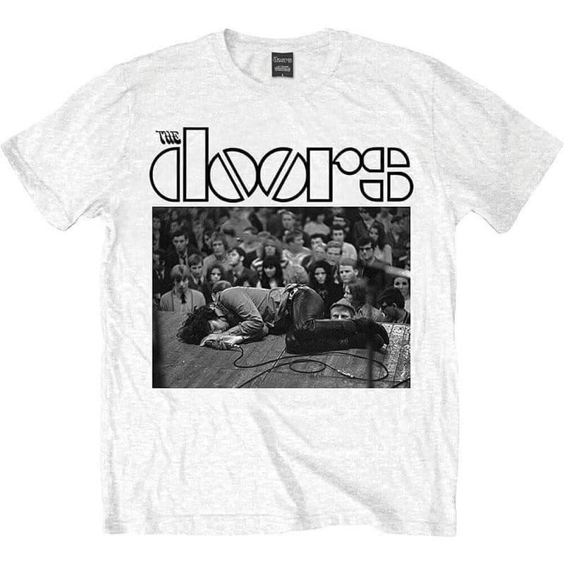 Men's The Doors Jim on Floor White T-Shirt