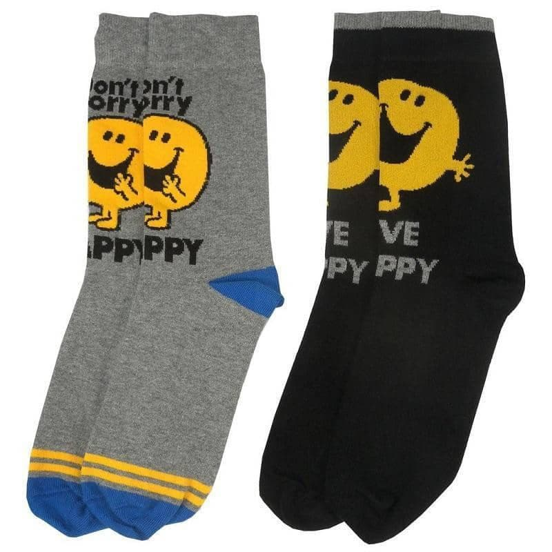 Mr. Men Mr. Happy Assorted Socks (2 Pairs)