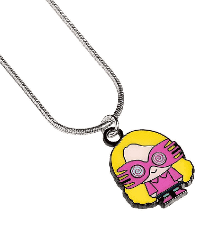 Harry Potter Silver Plated Luna Lovegood Chibi Necklace