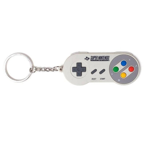 Nintendo SNES Controller Rubber Keychain