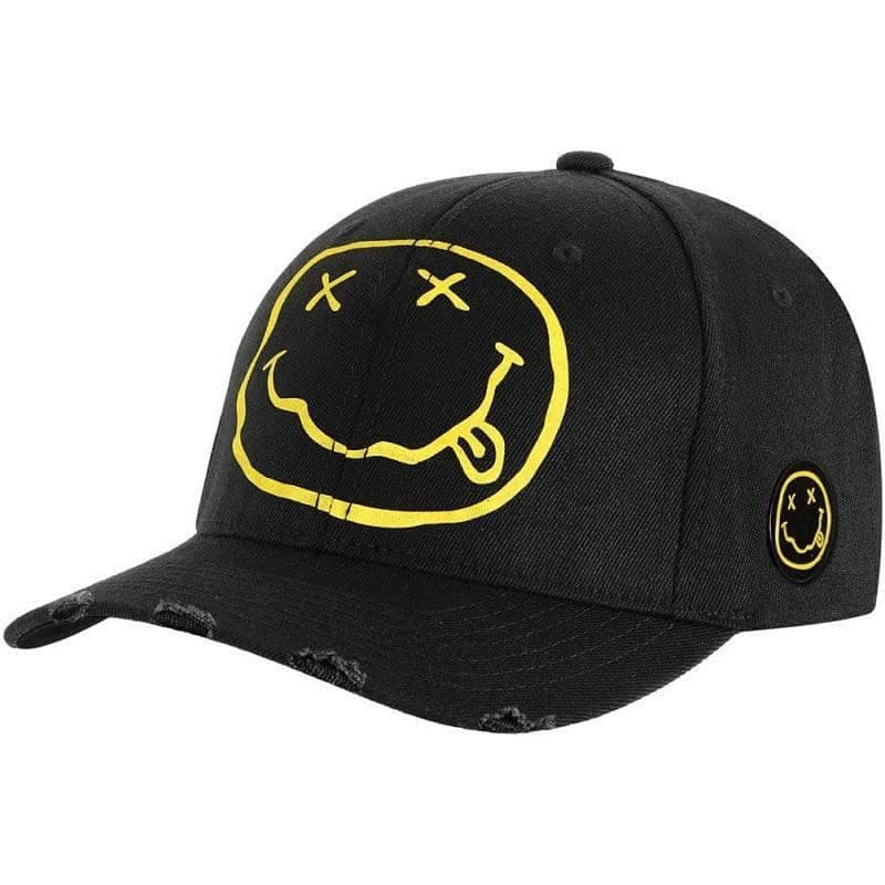Nirvana Smiley Logo Black Baseball Cap