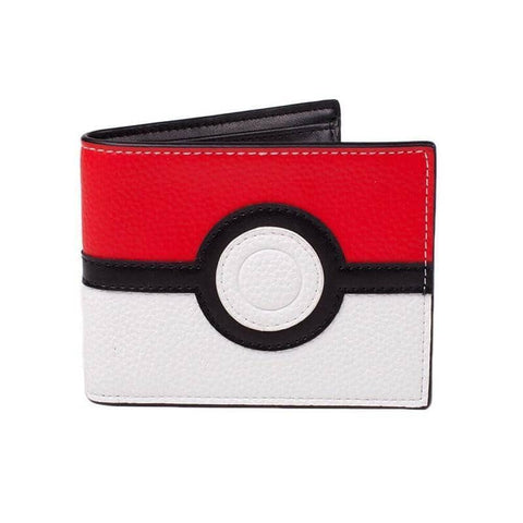 Pokemon Poke Ball Design Bi-Fold Wallet