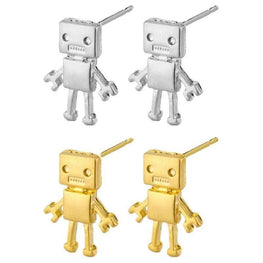 Retro Robot Stud Earrings