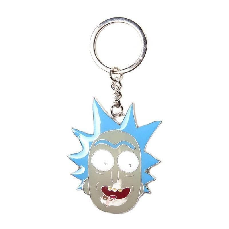 Rick and Morty Rick Face Character Keyring