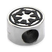 Load image into Gallery viewer, Stainless Steel Star Wars Galactic Empire Symbol Bead Charm