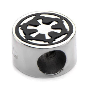 Stainless Steel Star Wars Galactic Empire Symbol Bead Charm