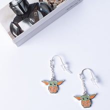 Load image into Gallery viewer, Star Wars The Mandalorian The Child Character Enamel Drop Earrings