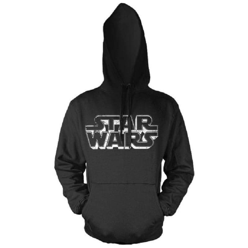 Star Wars Distressed Logo Black Hoodie