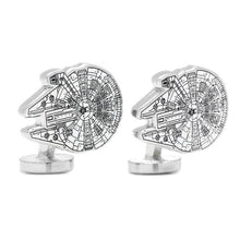 Load image into Gallery viewer, Star Wars Millennium Falcon Blueprint Cufflinks