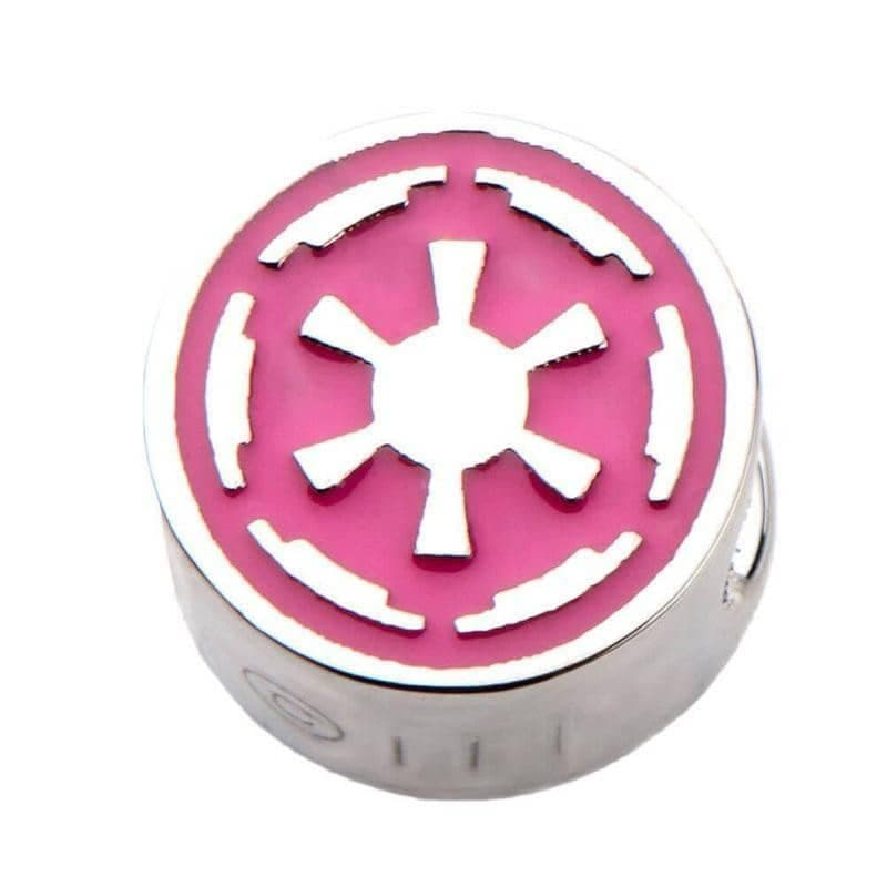 Star Wars Pink Galactic Empire Symbol Bead Charm