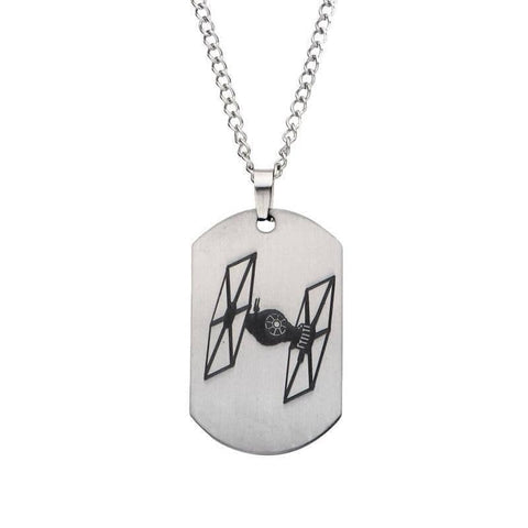 Star Wars TIE-Fighter Stainless Steel Dog Tag Pendant