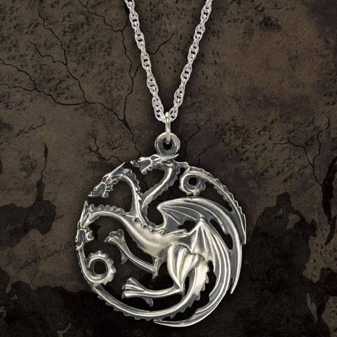 Sterling Silver Game of Thrones Targaryen Pendant