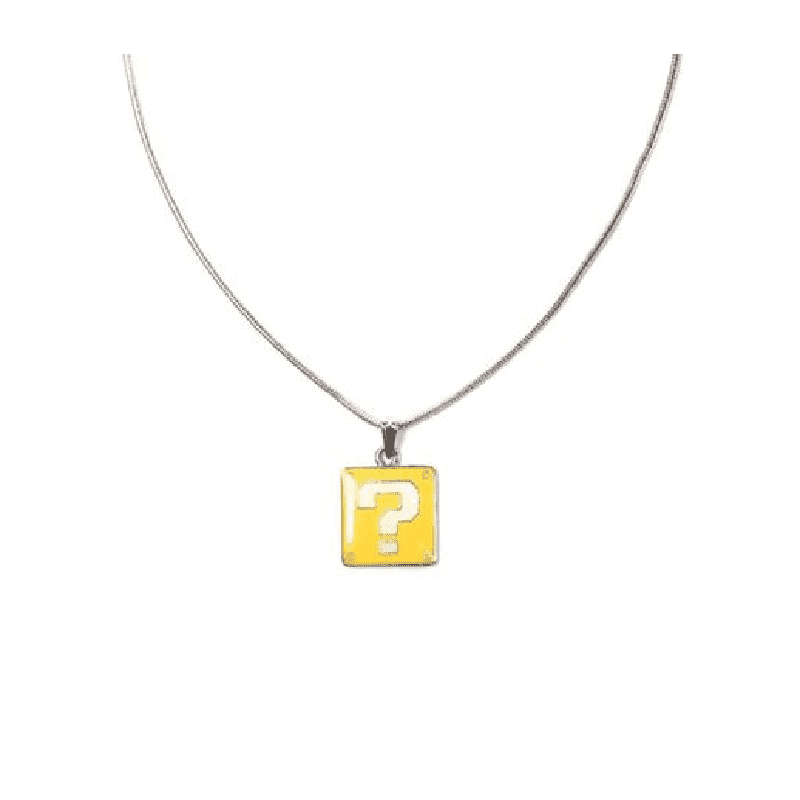 Super Mario Bros. Question Block Charm Necklace