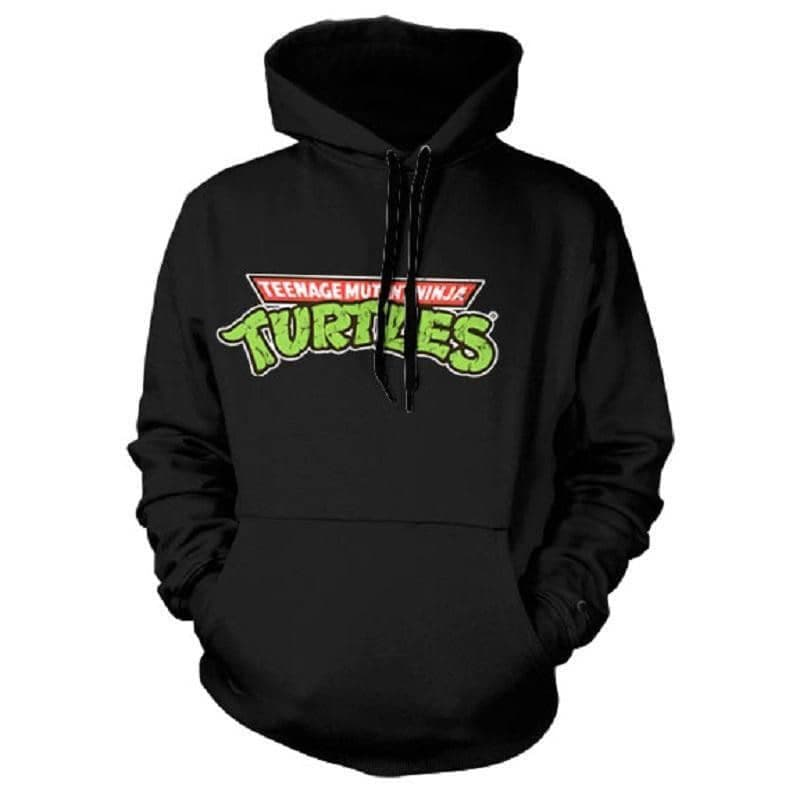 Teenage Mutant Ninja Turtles Classic Logo Black Hoodie