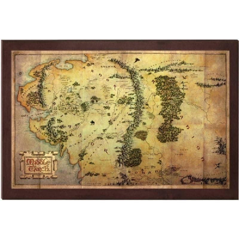 The Hobbit 16 x 12 Inch Map of Middle Earth