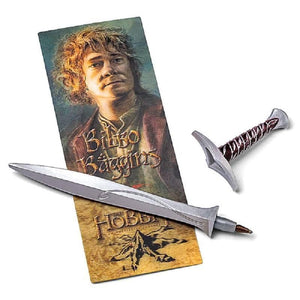 The Hobbit Sting Sword Pen and Lenticular Bookmark.