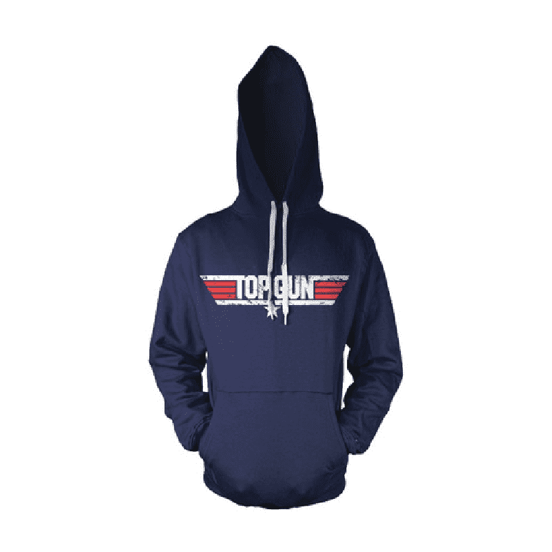 Top Gun Distressed Logo Navy Hoodie