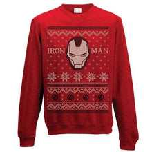 Load image into Gallery viewer, Unisex Iron Man Fair Isle Christmas Jumper