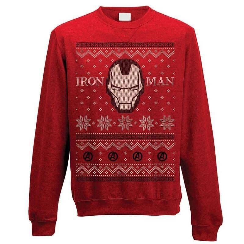 Unisex Iron Man Fair Isle Christmas Jumper