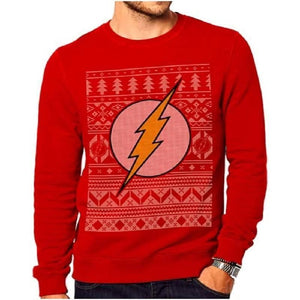 Unisex Red DC Comics The Flash Christmas Jumper