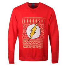 Load image into Gallery viewer, Unisex Red DC Comics The Flash Christmas Jumper