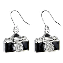 Load image into Gallery viewer, Vintage Design Camera Drop Earrings
